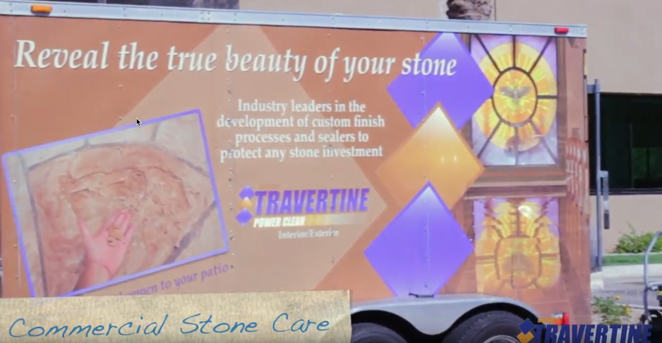 Commercial Work - Baker's travertine Power Clean