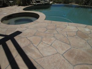 After: Flagstone patio stripped of coating, cleaned, sealed with proper sealers   Flagstone   Interiors   Photo Gallery   Baker's Travertine Power Clean