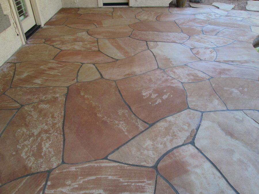 After: Flagstone patio cleaned and two part sealing | Flagstone Exterior | Photo Gallery | Baker