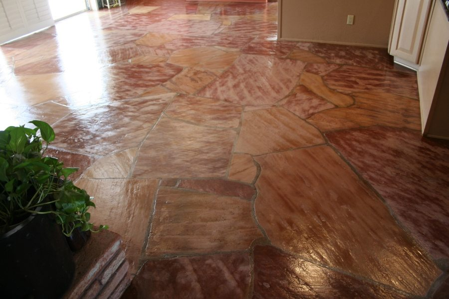 Beautiful flagstone interior floor | Flagstone | Interiors | Photo Gallery | Baker's Travertine Power Clean