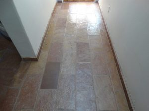After: Flagstone hallway cleaned & sealed   Flagstone   Interiors   Photo Gallery   Baker's Travertine Power Clean