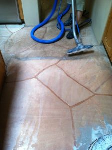 Flagstone cleaning process   Flagstone   Interiors   Photo Gallery   Baker's Travertine Power Clean