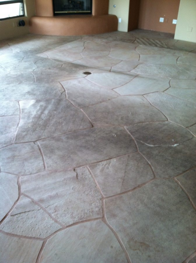 Before: Dirty flagstone | Flagstone | Interiors | Photo Gallery | Baker's Travertine Power Clean