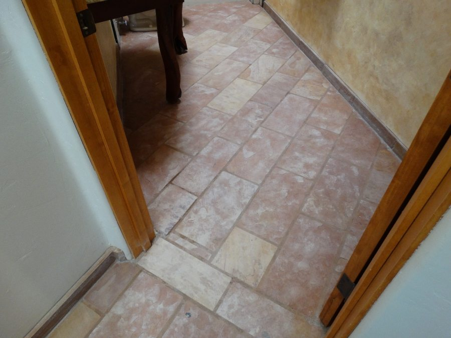 Before: Flagstone | Flagstone | Interiors | Photo Gallery | Baker's Travertine Power Clean