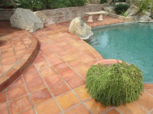 After: Saltillo patio Paradise Valley | Saltillo Exterior Patios | Photo Gallery | Baker's Travertine Power Clean