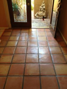 Saltillo entry way Biltmore area | Saltillo Interior | Photo Gallery | Baker's Travertine Power Clean