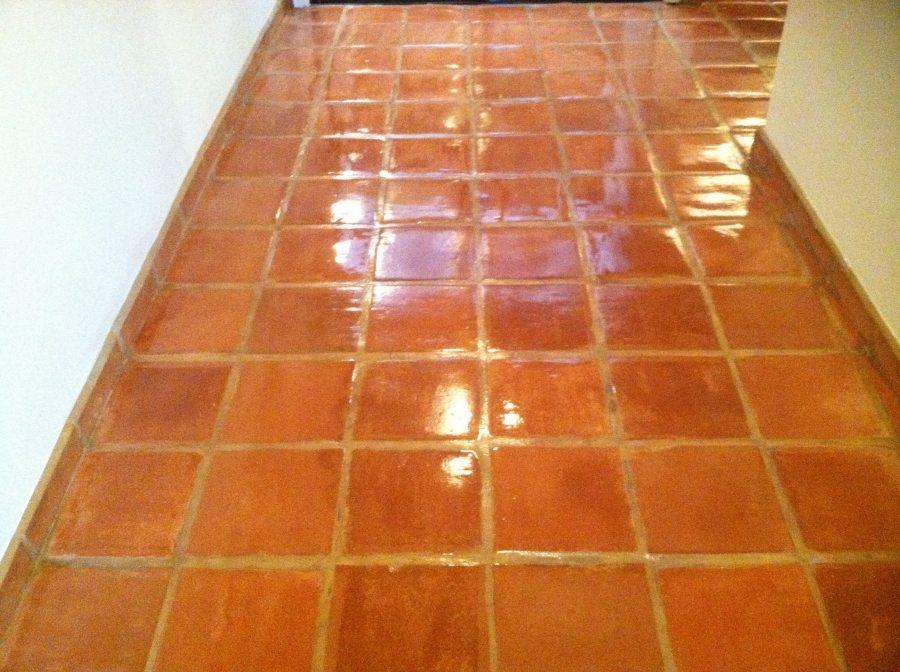 After: Saltillo hallway Chandler   Saltillo Interior   Photo Gallery   Baker's Travertine Power Clean