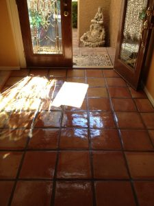 After: Saltillo entry Phoenix Biltmore area | Saltillo Interior | Photo Gallery | Baker's Travertine Power Clean