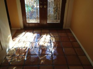 After: Saltillo entry Phoenix Biltmore | Saltillo Interior | Photo Gallery | Baker's Travertine Power Clean