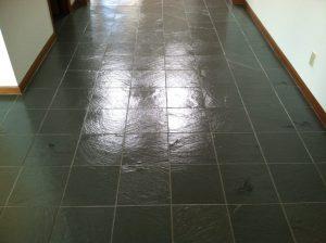 After: Slate hallway in Mesa   Slate   Interior   Photo Gallery   Baker's Travertine Power Clean