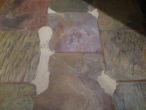 Slate repair in office of Chandler home   Slate   Interior   Photo Gallery   Baker's Travertine Power Clean