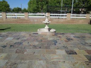 Slate patio | Slate | Exterior Patios | Photo Gallery | Baker's Travertine Power Clean