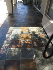 After: Slate patio in Scottsdale | Slate | Exterior Patios | Photo Gallery | Baker's Travertine Power Clean