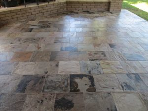 Slate patio | Slate | Exterior Patios | Photo Gallery | Baker's Travertine Power Clean