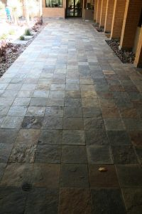 Before: Slate patio in Paradise Valley | Slate | Exterior Patios | Photo Gallery | Baker's Travertine Power Clean