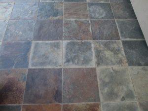 Before: Slate patio in Scottsdale | Slate | Exterior Patios | Photo Gallery | Baker's Travertine Power Clean