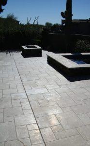 Before: Travertine patio | Patios, Pools & Decking | Travertine | Baker's Travertine Power Clean