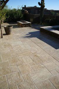 After: Travertine patio   Patios, Pools & Decking   Travertine   Baker's Travertine Power Clean