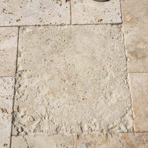 Travertine pavers eroding | Patios, Pools & Decking | Travertine | Baker's Travertine Power Clean