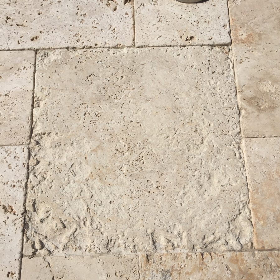 Travertine pavers eroding | Patios, Pools & Decking | Travertine | Baker's Travertine Power Clean
