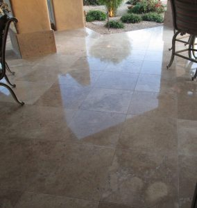 Travertine High Polish patio | Patios, Pools & Decking | Travertine | Baker's Travertine Power Clean