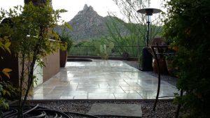 Travertine patio Light Polish | Patios, Pools & Decking | Travertine | Baker's Travertine Power Clean