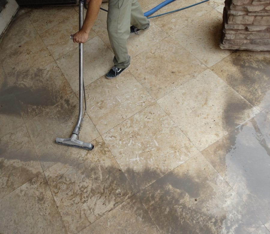 Travertine patio cleaning | Patios, Pools & Decking | Travertine | Baker's Travertine Power Clean