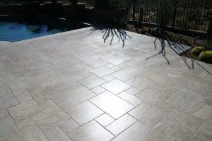 After: Travertine patio | Patios, Pools & Decking | Travertine | Baker's Travertine Power Clean