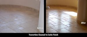 Travertine Satin finish | Satin Finish Gallery | Travertine | Baker's Travertine Power Clean