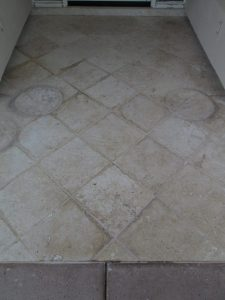 Before: Cantera entry Paradise Valley | Cantera Exterior | Photo Gallery | Baker's Travertine Power Clean