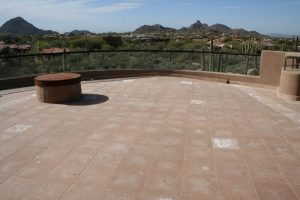 Cantera balcony North Scottsdale | Cantera Exterior | Photo Gallery | Baker's Travertine Power Clean