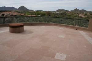 After: Cantera balcony   Cantera Exterior   Photo Gallery   Baker's Travertine Power Clean