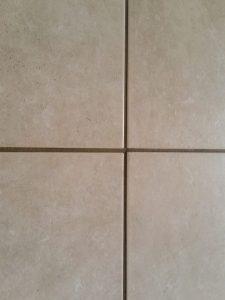 Before: Super dark grout lines in Scottsdale | Ceramic & Porcelain | Photo Gallery | Baker's Travertine Power Clean