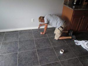 Ceramic Tile Grout & Color Seal | Ceramic & Porcelain | Photo Gallery | Baker's Travertine Power Clean