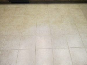 Before: Dark grout lines | Ceramic & Porcelain | Photo Gallery | Baker's Travertine Power Clean