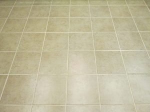 After: Grout lines disappear when color sealed   Ceramic & Porcelain   Photo Gallery   Baker's Travertine Power Clean