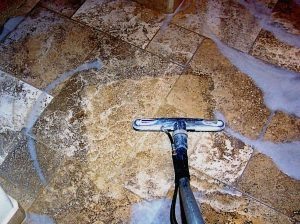 Cleaning Process   Photo Galleries   Baker's Travertine Power Clean