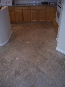 Before: Very dirty travertine   Cleaning Process   Photo Galleries   Baker's Travertine Power Clean