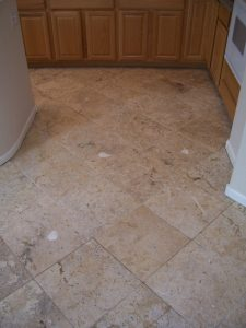 After: Clean travertine revealed   Cleaning Process   Photo Galleries   Baker's Travertine Power Clean