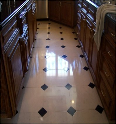 After: Limestone polish | Limestone Interior | Photo Gallery | Baker's Travertine Power Clean