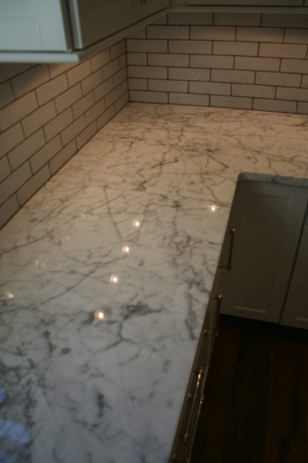 After: Marble vanity/counter   Marble   Interiors   Photo Gallery   Baker's Travertine Power Clean