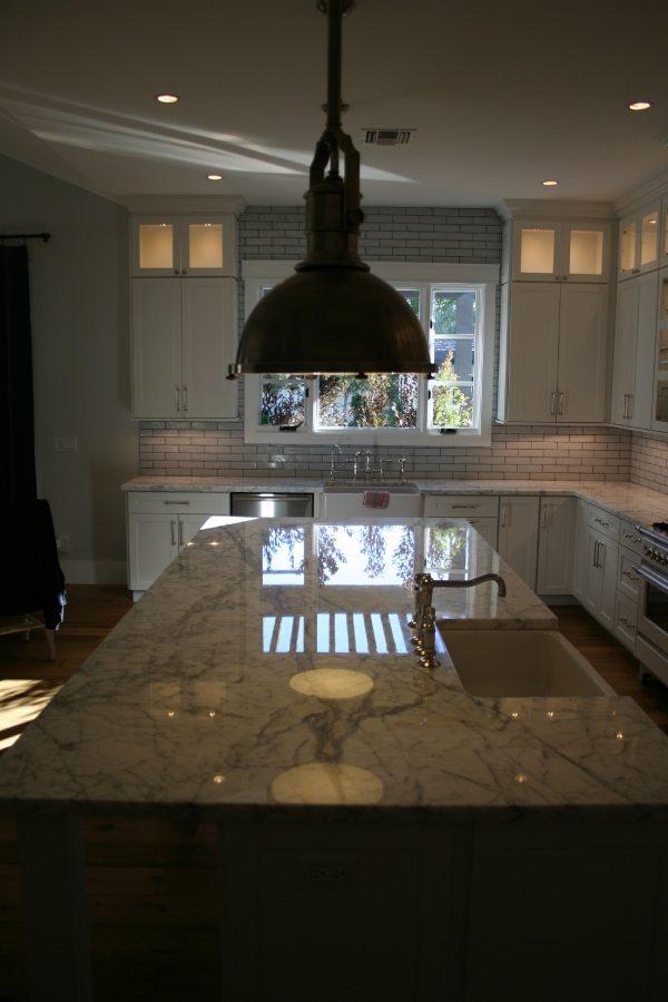 Marble Kitchen Island   Marble   Interiors   Photo Gallery   Baker's Travertine Power Clean