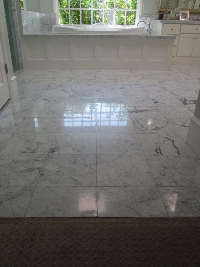 Before: Marble master bath   Marble   Interiors   Photo Gallery   Baker's Travertine Power Clean