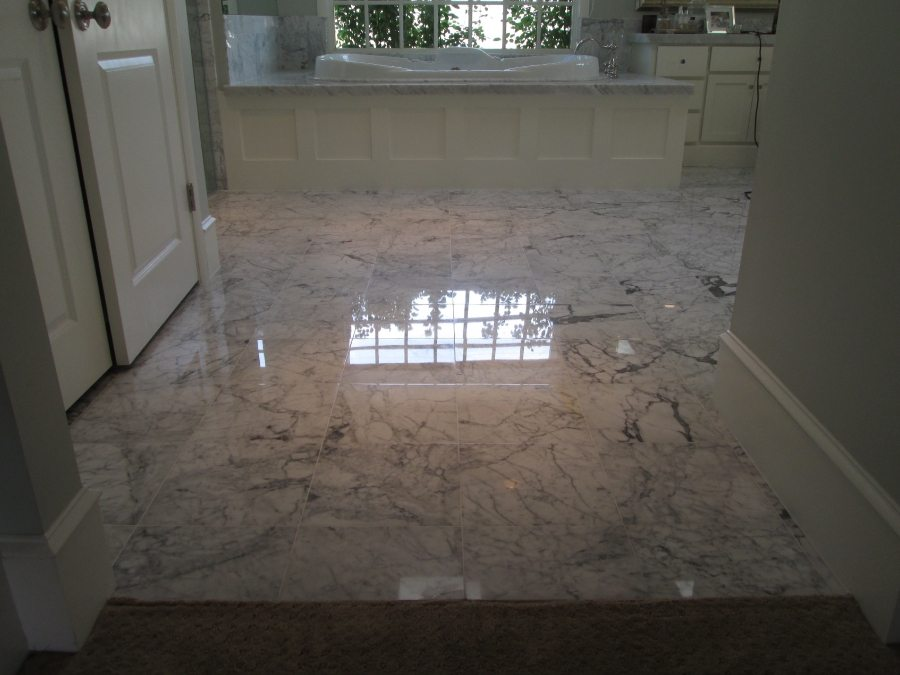 After: Marble master bath   Marble   Interiors   Photo Gallery   Baker's Travertine Power Clean