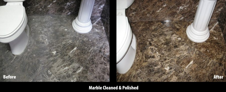 Before/After: Marble bath floor   Marble   Interiors   Photo Gallery   Baker's Travertine Power Clean