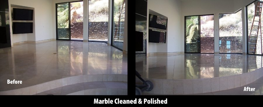 Before/After: Marble great room   Marble   Interiors   Photo Gallery   Baker's Travertine Power Clean