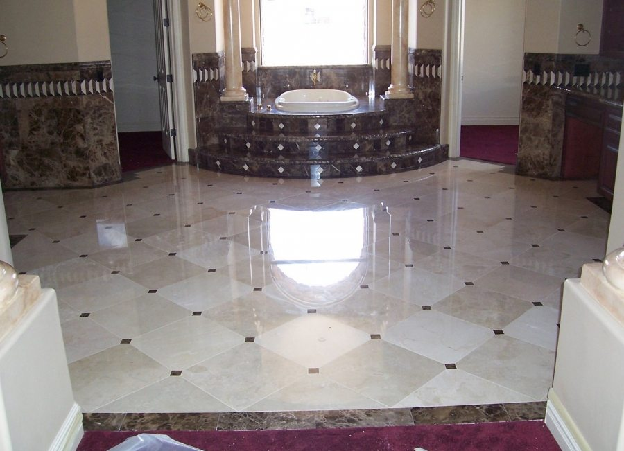 Marble master bath entry   Marble   Interiors   Photo Gallery   Baker's Travertine Power Clean