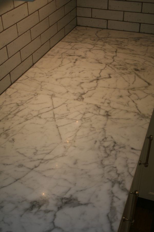 Before: Marble vanity/counter   Marble   Interiors   Photo Gallery   Baker's Travertine Power Clean