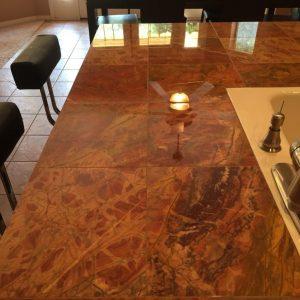 Polished marble counter in Phoenix   Showers & Vanities   Interior Gallery   Baker's Travertine Power Clean