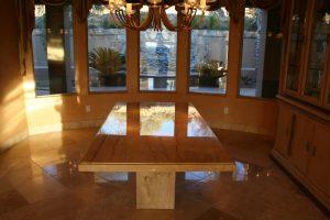 Marble table top in Las Sendas, Mesa | Showers & Vanities | Interior Gallery | Baker's Travertine Power Clean